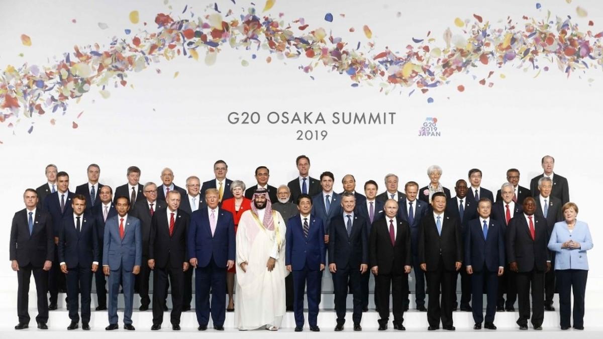 Thủ tướng Nguyễn Xuân Phúc chụp ảnh cùng lãnh đạo G20 tại Osaka , Nhật Bản năm 2019. Ảnh: TTXVN
