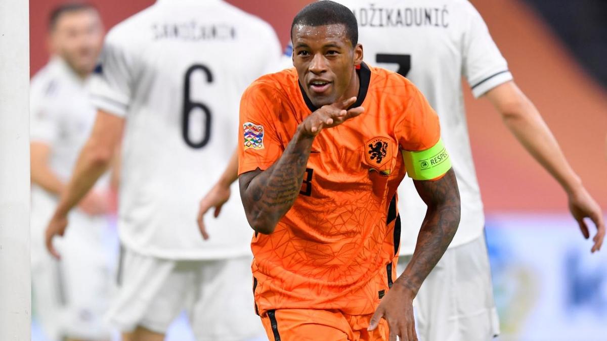 Wijnaldum lập cú đúp giúp Hà Lan thắng trận đầu dưới thời HLV De Boer. (Ảnh: Getty).