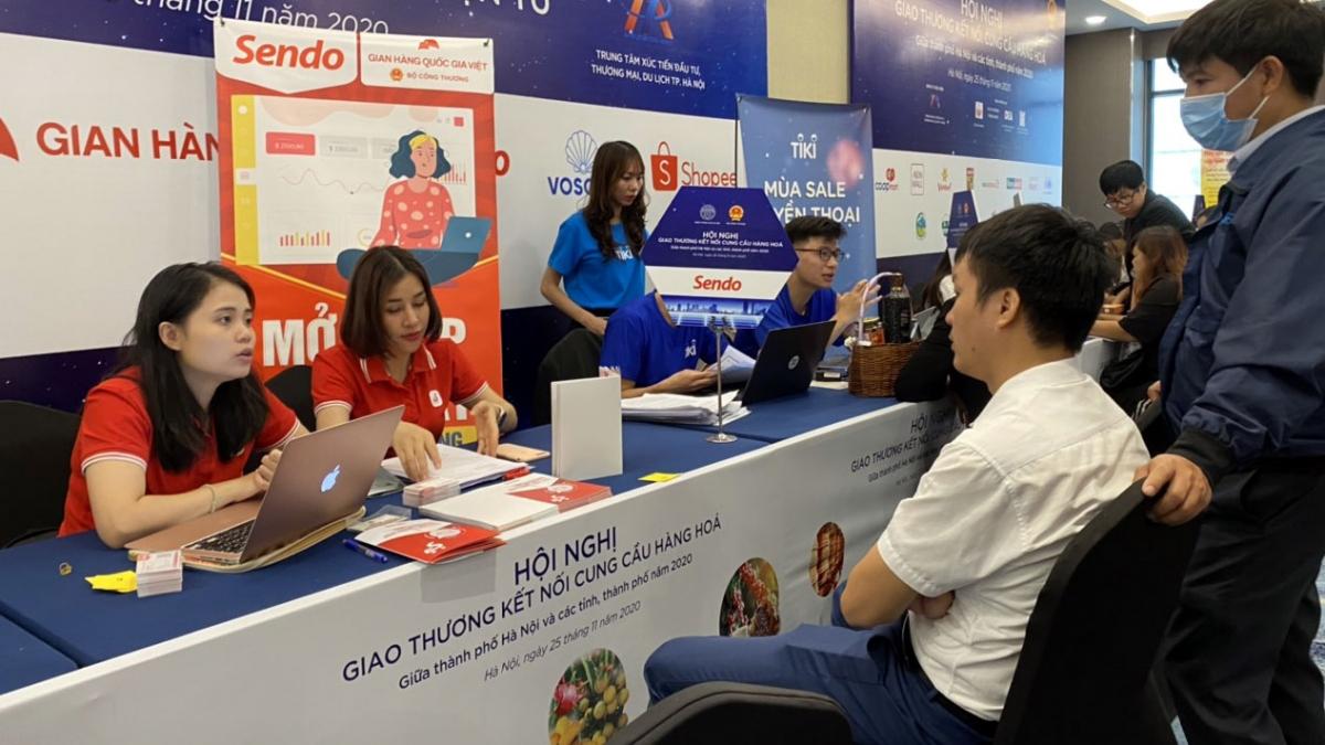"""Trước mắt, """"Gian hàng Việt trực tuyến"""" trước mắt sẽ triển khai trên 3 sàn thương mại điện tử lớn là Sendo, Voso (Viettel Post) và Tiki."""