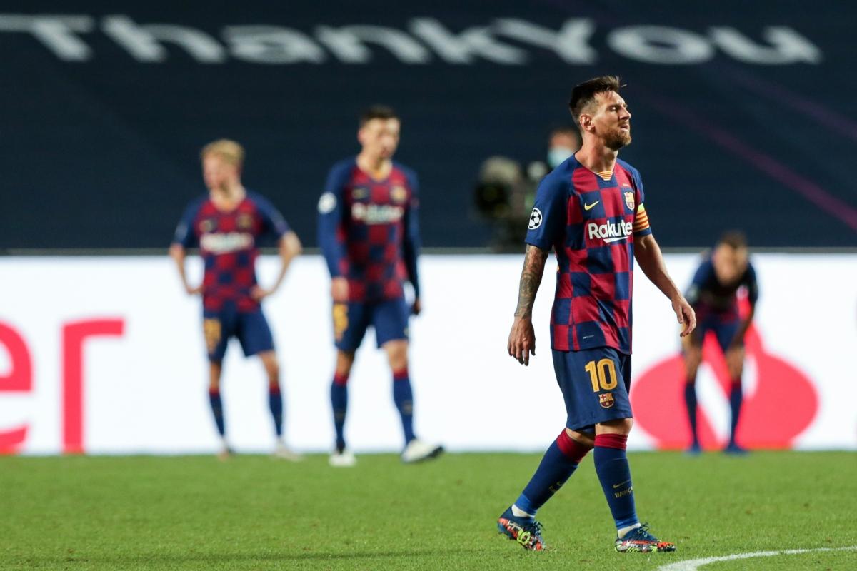 Messi và các đồng đội chấp nhận giảm lương ở Barca. (Ảnh: Getty)