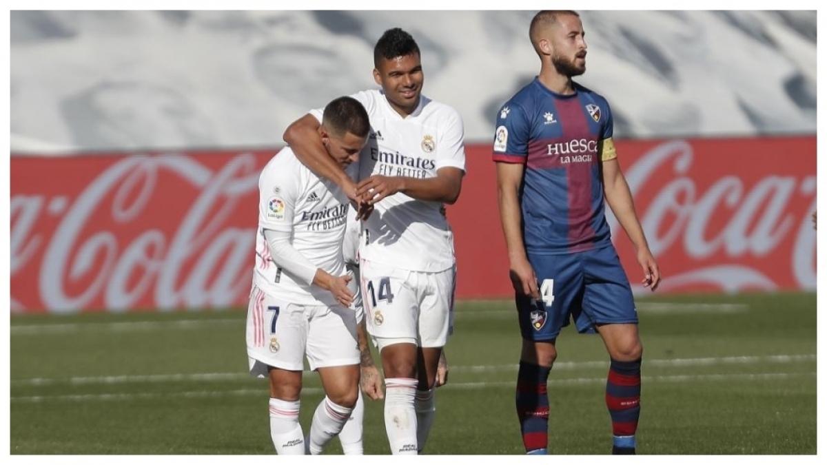 Casemiro và Hazard mắc Covid-19 đúng lúc phong độ đang tốt khiến Real gặp nhiều thách thức. (Ảnh: Getty).