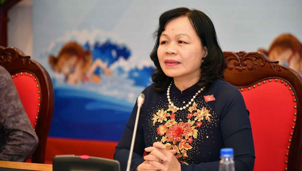 Bà Nguyễn Thị Mai Hoa - Ủy viên Thường trực Ủy ban Văn hóa, Giáo dục, Thanh niên, Thiếu niên và Nhi đồng của Quốc hội.