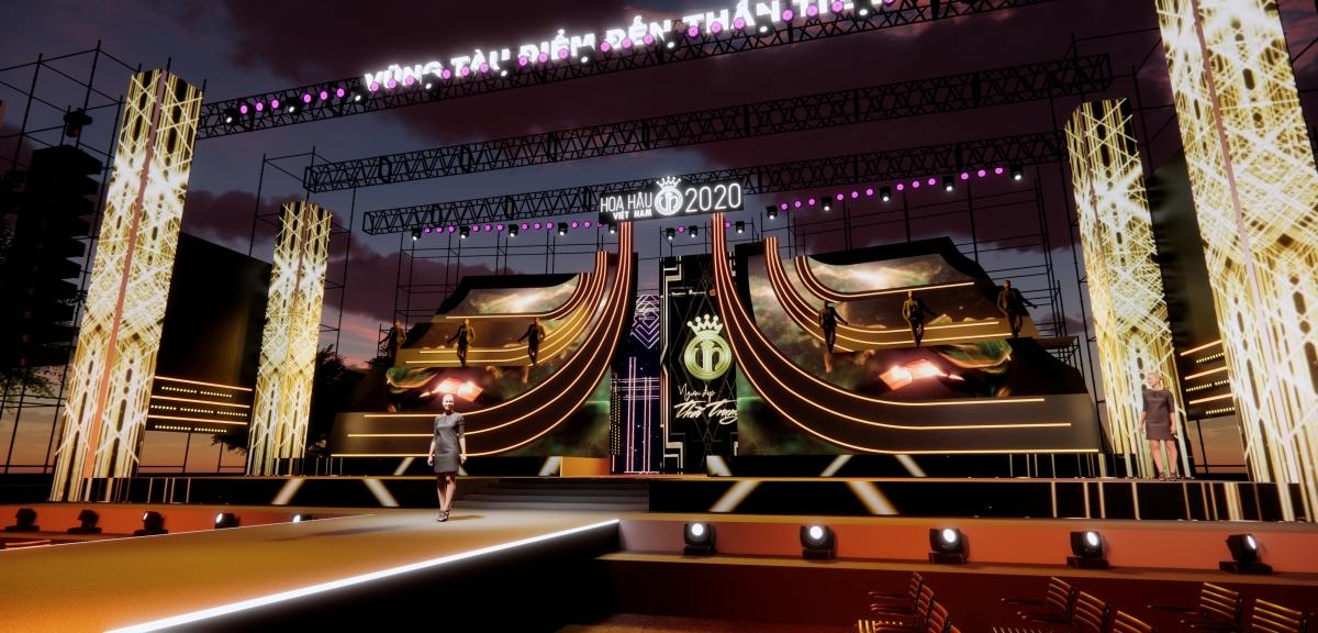 Sân khấu vòng chung kết Hoa hậu Việt Nam 2020.
