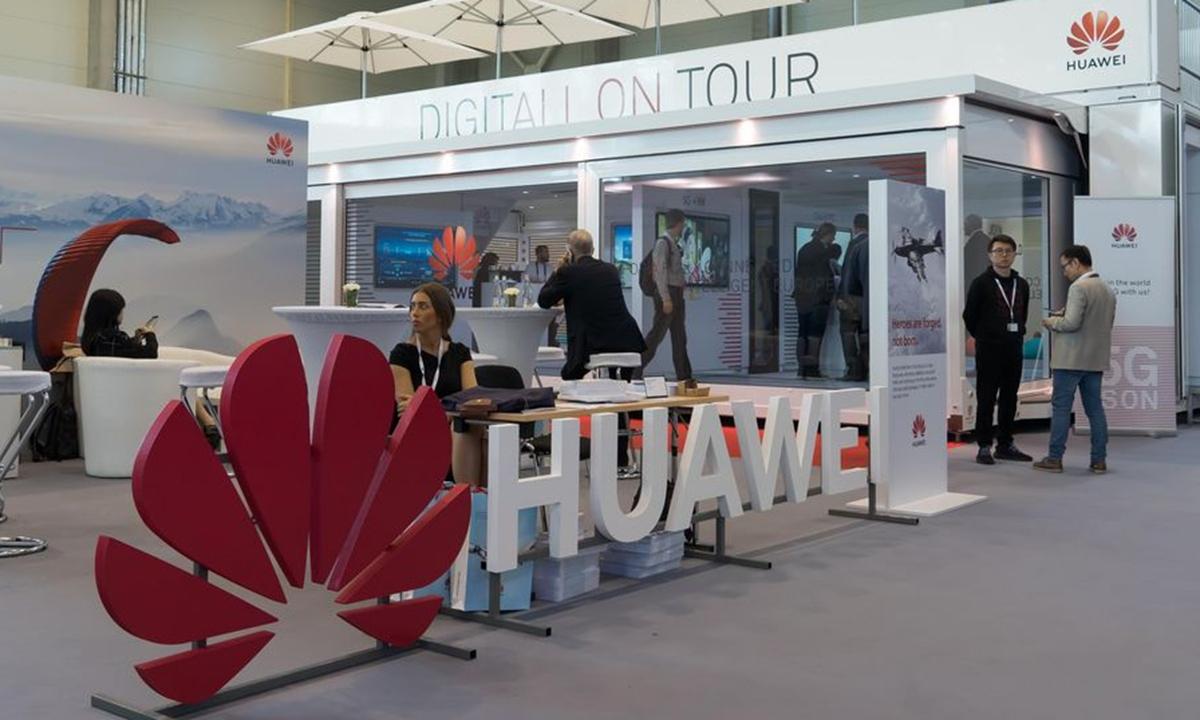 Chính phủ Anh ngày 30/11 tiếp tục cấm cài đặt thiết bị 5G mới của Huawei. Ảnh: Global Times