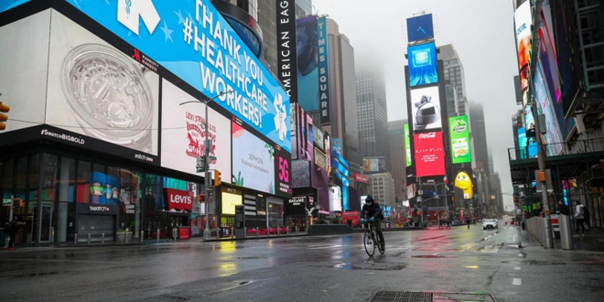 New York từng là tâm dịch của nước Mỹ. Ảnh: AFP/Getty Images