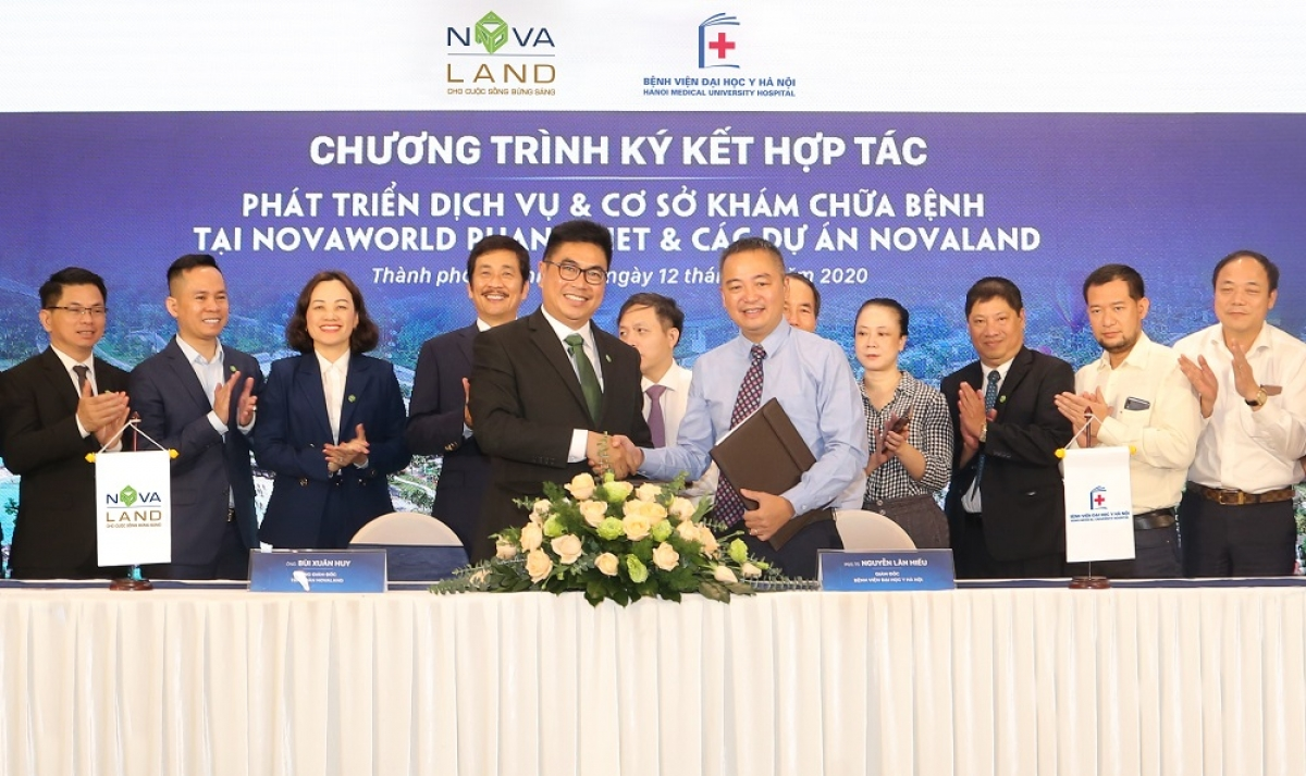 Novaland ký kết hợp tác với bệnh viện Đại học Y Hà Nội phát triển dịch vụ và cơ sở khám chưa bệnh tại NovaWorld Phan Thiet và các Dự án Novaland ngày 12/10/2020