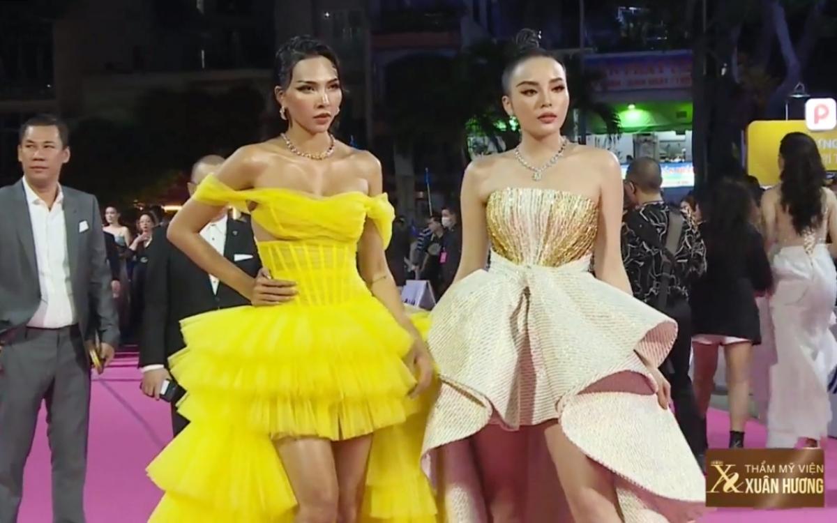 Hoa hậu Kỳ Duyên và siêu mẫu Minh Triệu.