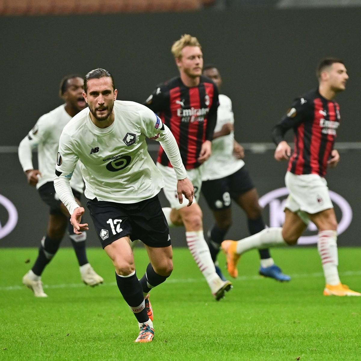 Lille thắng đậm AC Milan tại San Siro (Ảnh: Getty).