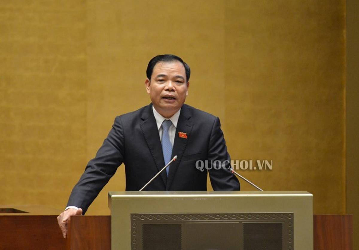 Bộ trưởng Bộ Nông nghiệp và Phát triển nông thông Nguyễn Xuân Cường. (Ảnh: Quochoi.vn)