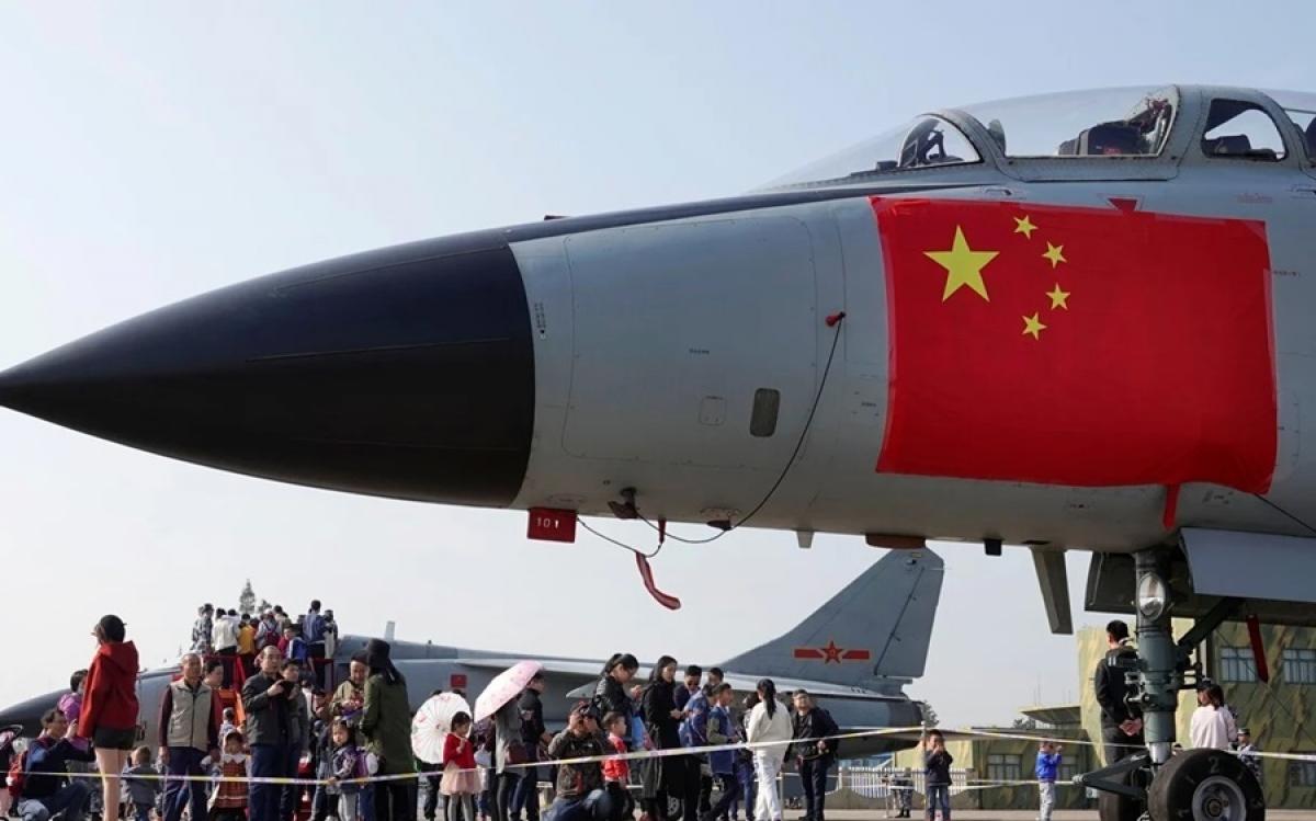 Máy bay chiến đấu của Trung Quốc. Ảnh: Reuters.