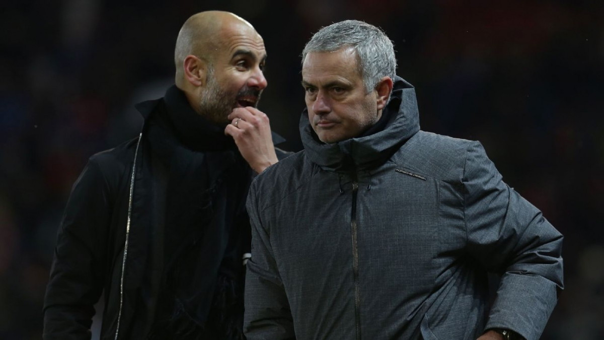 Thời thế thay đổi giữa Pep và Mourinho. (Ảnh: ESPN)