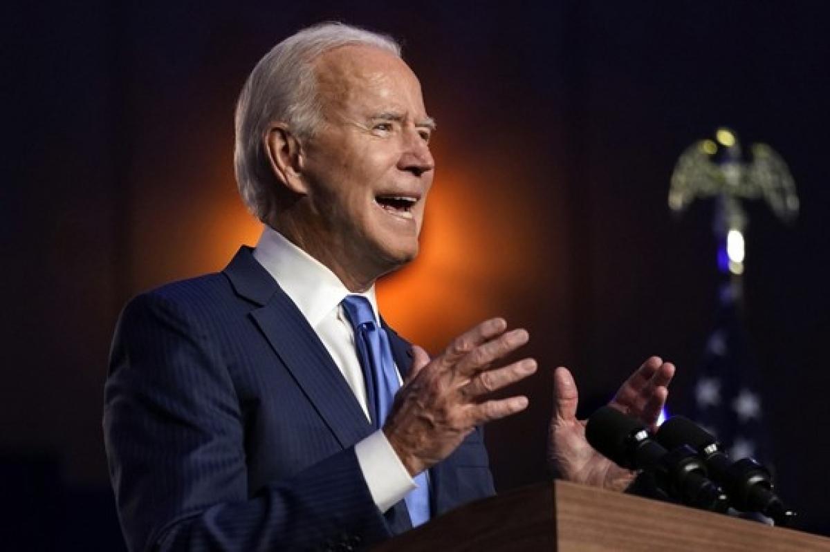 Ông Biden phát biểu tạiWilmington, Delaware. Ảnh: AP