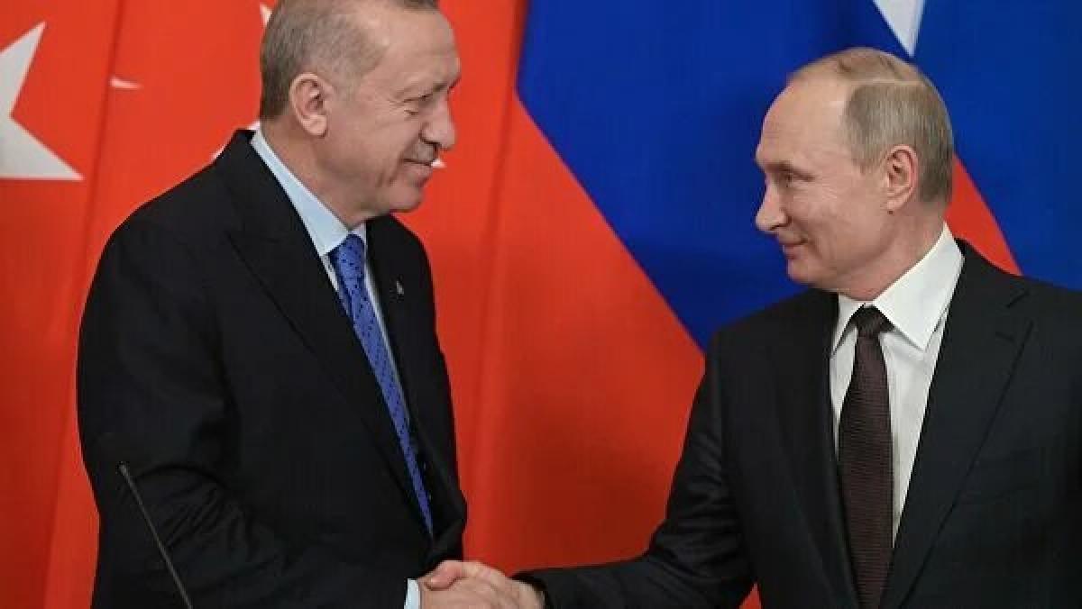Tổng thống Thổ Nhĩ kỳ T.Erdogan và Tổng thống Nga V.Putin. (Ảnh: rianovosti)
