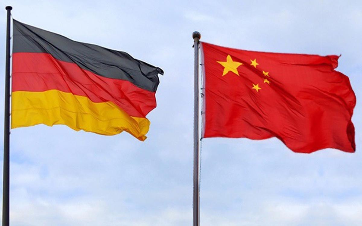 Cờ Đức và Trung Quốc. (Ảnh: Belt and Road news)