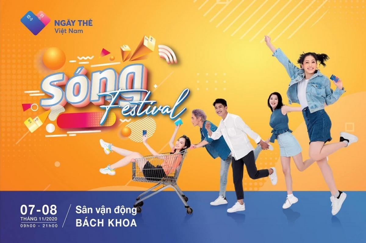 """Sự kiện mua sắm """"Sóng Festival"""" nằm trong khuôn khổ """"Ngày thẻ Việt Nam 2020"""" dành cho giới trẻ (Ảnh minh họa: KT)"""