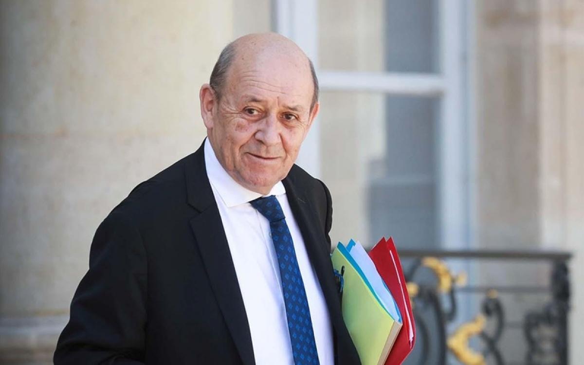 Ngoại trưởng Pháp Drian. Ảnh: Middle East Online.