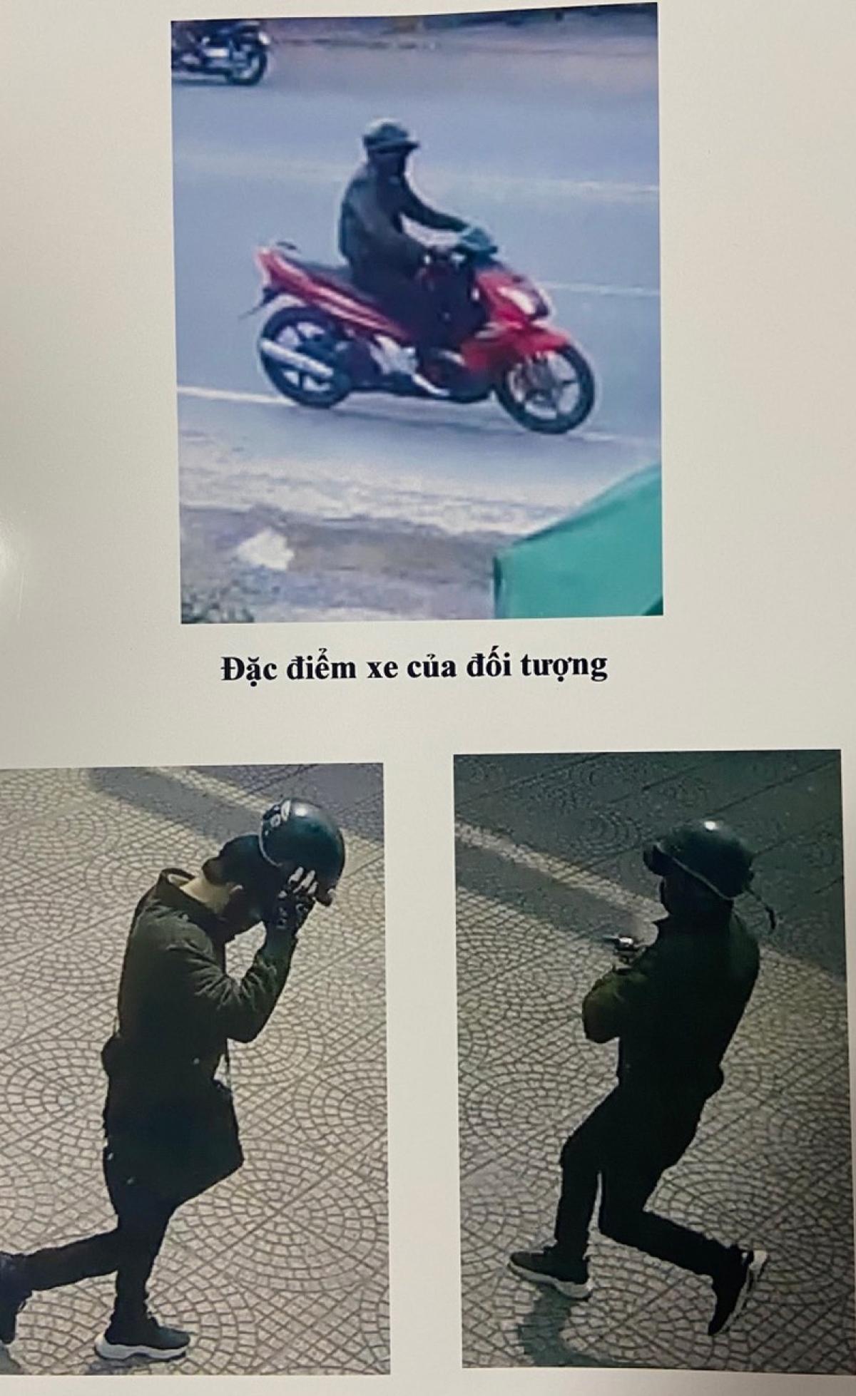 Hình ảnh về đối tượng cướp ngân hàng