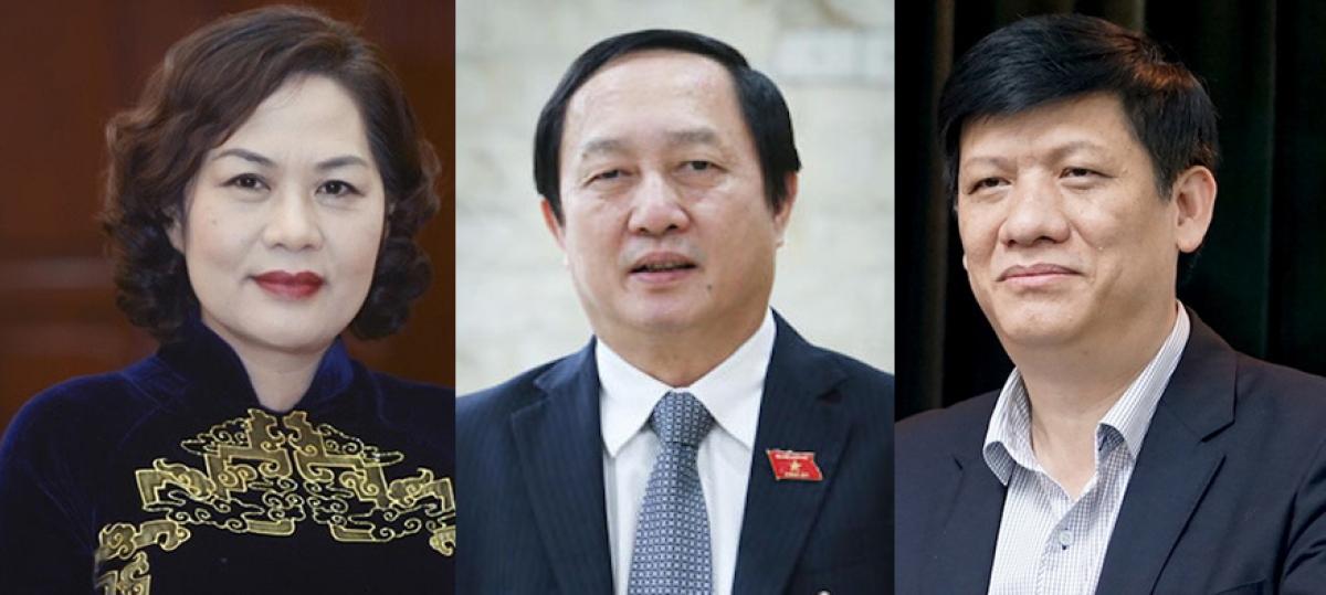 Bà Nguyễn Thị Hồng, ông Huỳnh Thành Đạt và ông Nguyễn Thanh Long