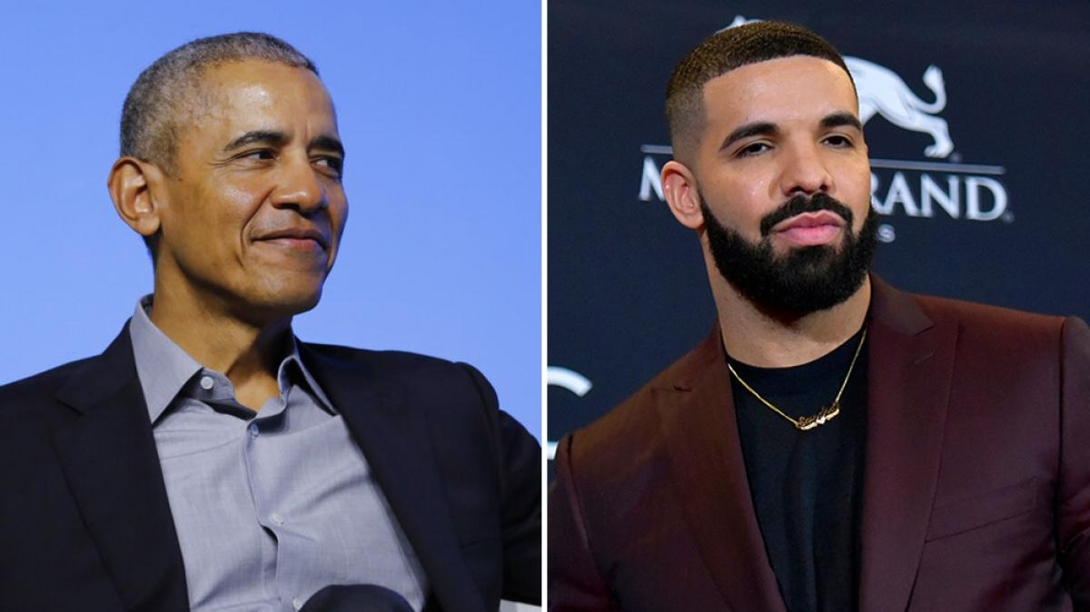 Cựu Tổng thống Mỹ Barack Obama (trái) và rapper Drake (phải). Nguồn: AP