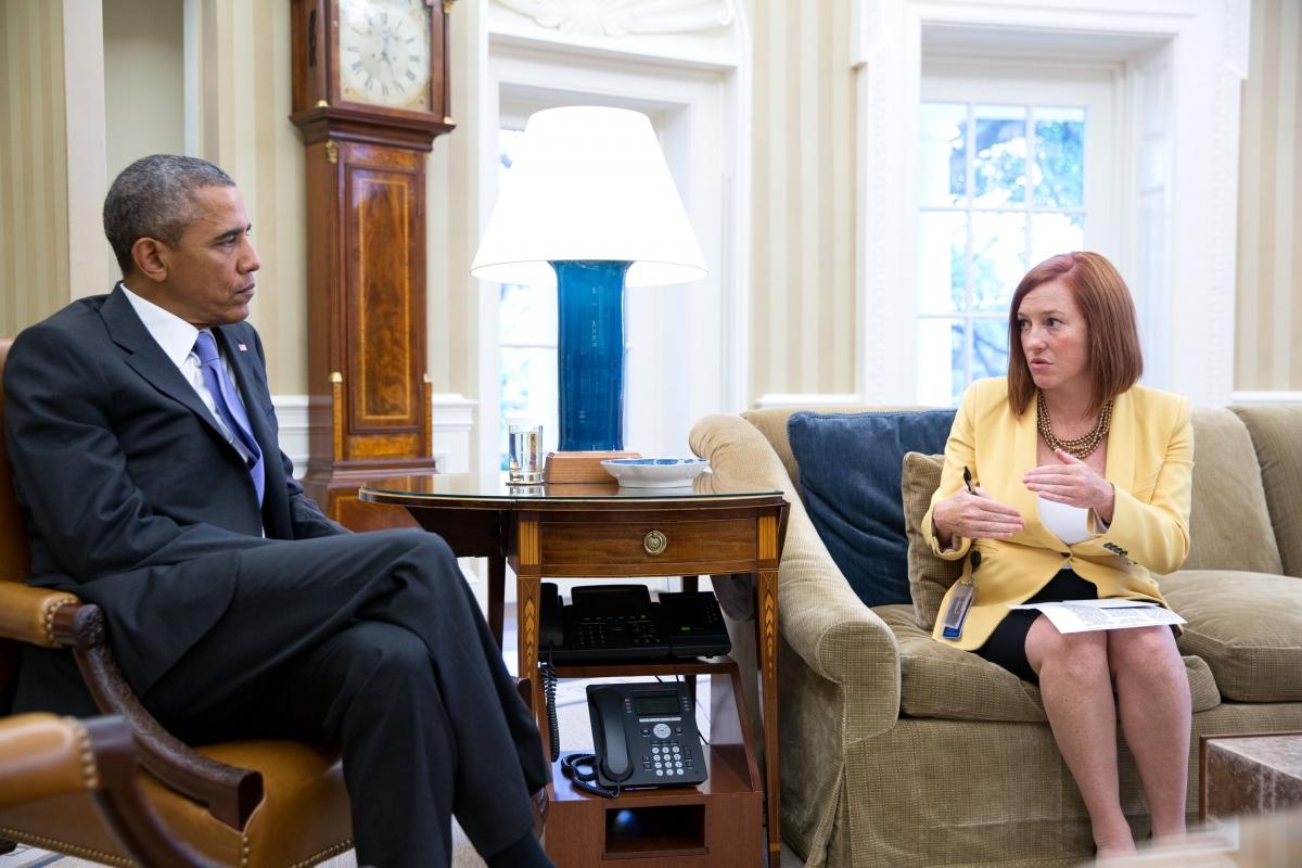 Bà Jennifer Psaki, người từng là Giám đốc truyền thông Nhà Trắng dưới thời Tổng thống Barack Obama.