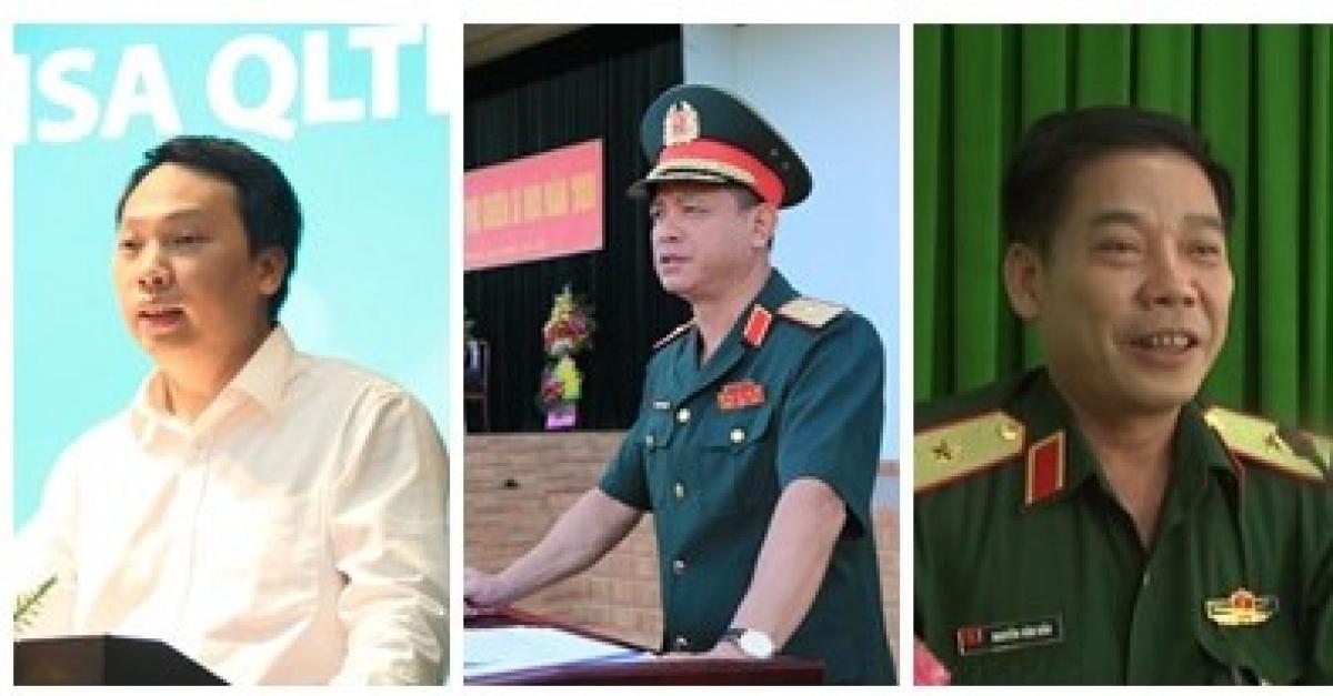 Thứ trưởng Bộ Thông tin và Truyền thông Nguyễn Huy Dũng; Thiếu tướng Nguyễn Trường Thắng - Tư lệnh Quân Khu 7; Thiếu tướng Nguyễn Văn Gấu - Chính ủy Quân Khu 9 (Từ trái sang phải)
