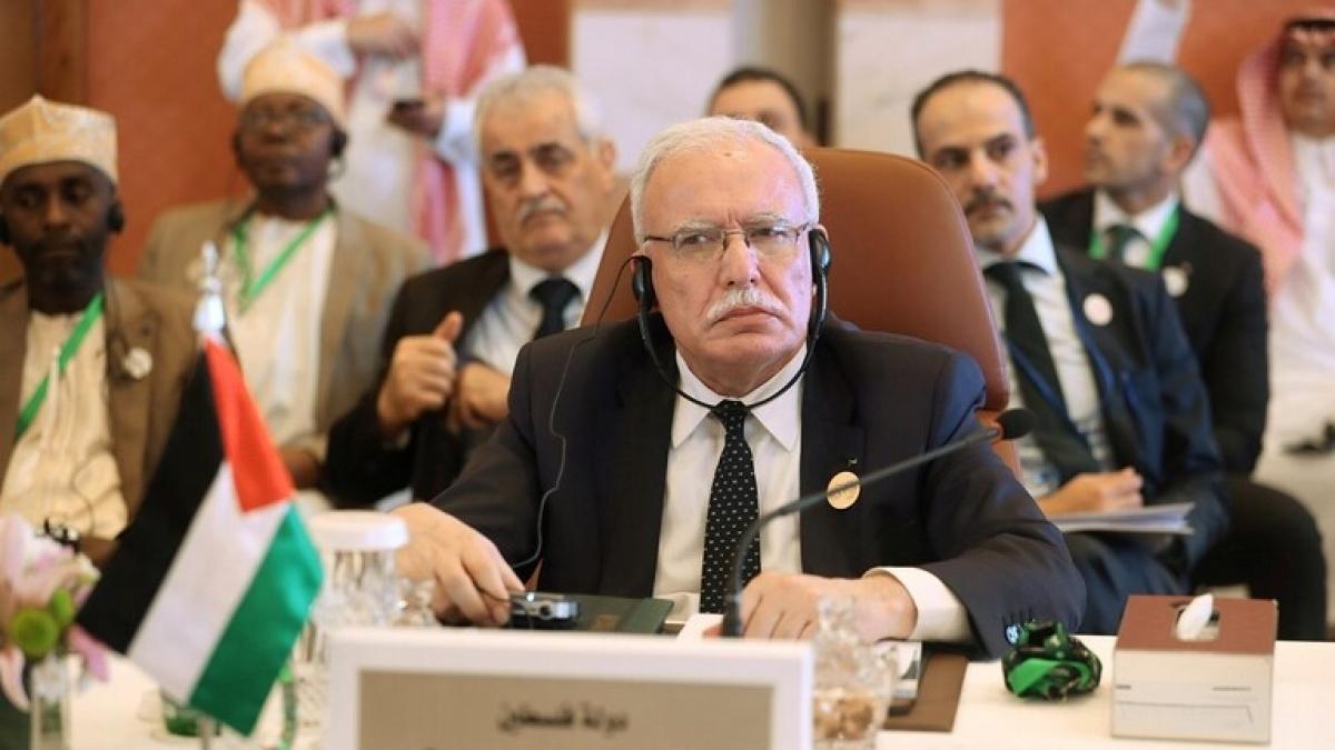 Ngoại trưởng Palestine Riyad Al-Maliki. Ảnh: Reuters
