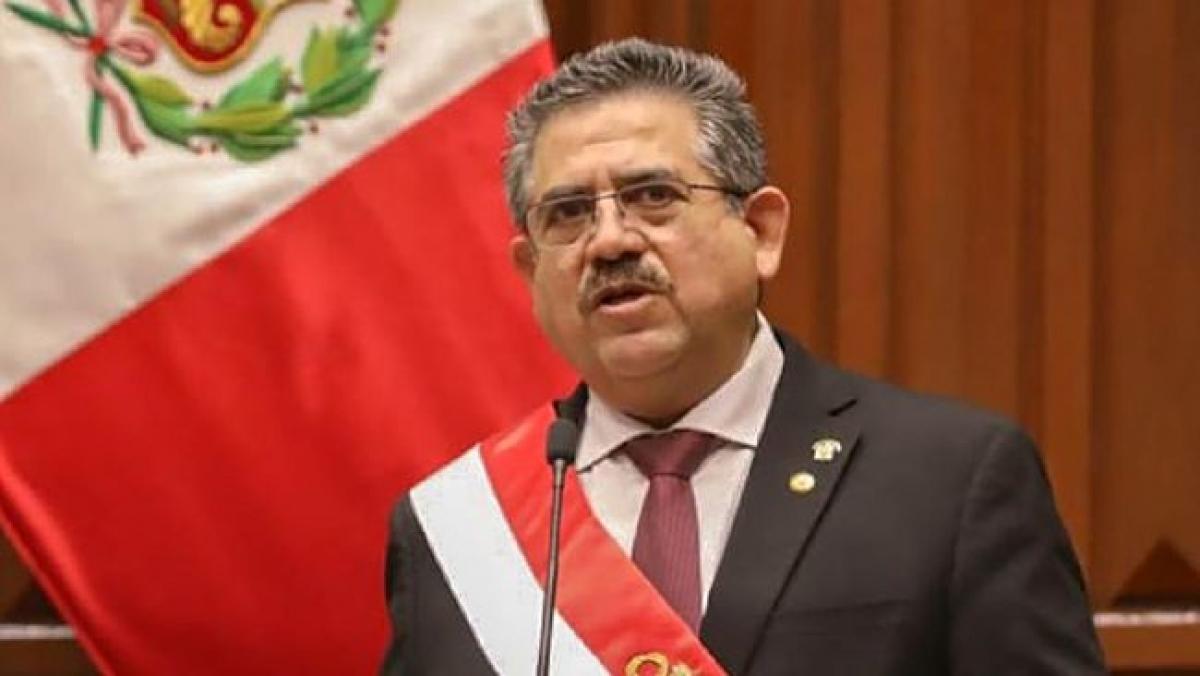 Tổng thống Peru Manuel Merino (Ảnh: AFP)