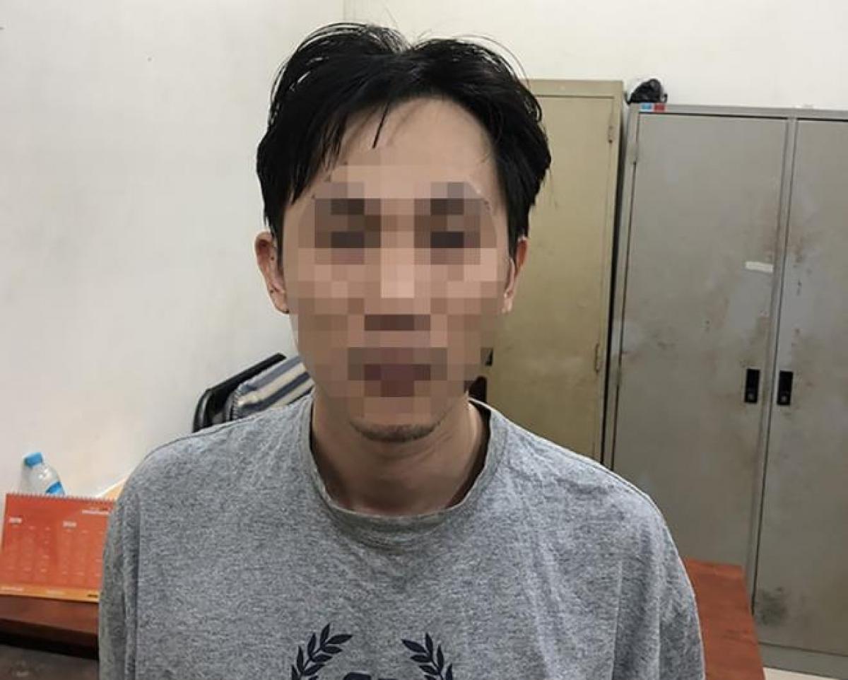 Hồ Thanh P tại cơ quan công an. (Ảnh: CACC)
