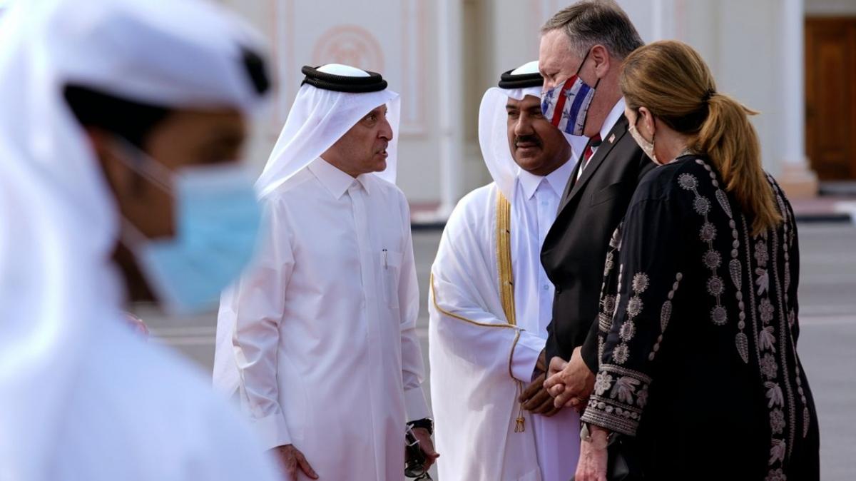 Ngoại trưởng Mỹ Mike Pompeo tại Qatar. Ảnh: Reuters