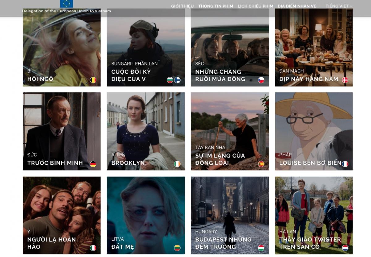 Một số bộ phim được giới thiệu trong Liên hoan phim châu Âu năm 2020