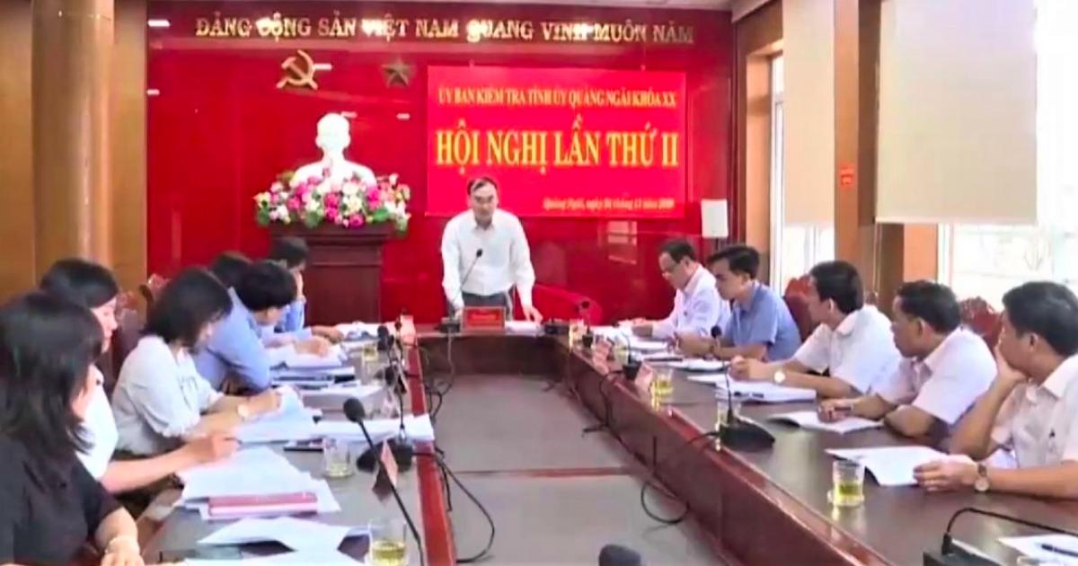 Hội nghị của Ủy ban Kiểm tra Tỉnh ủy Quảng Ngãi