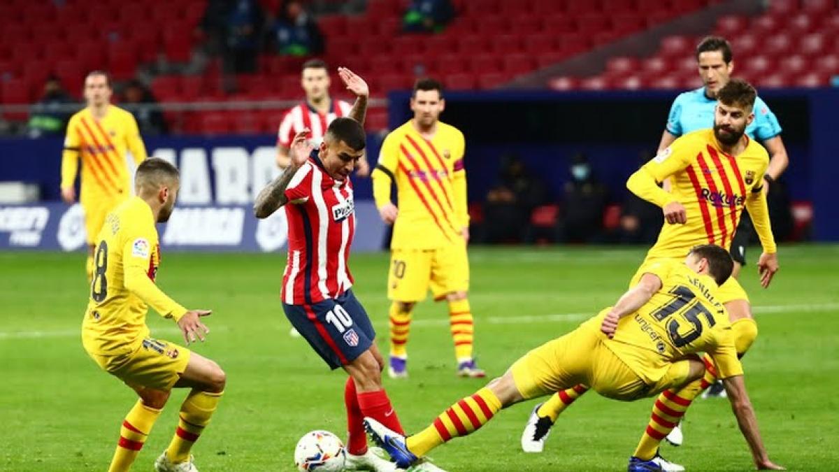 Atletico Madrid thi đấu rất tốt trước Barca (Ảnh: Reuters).