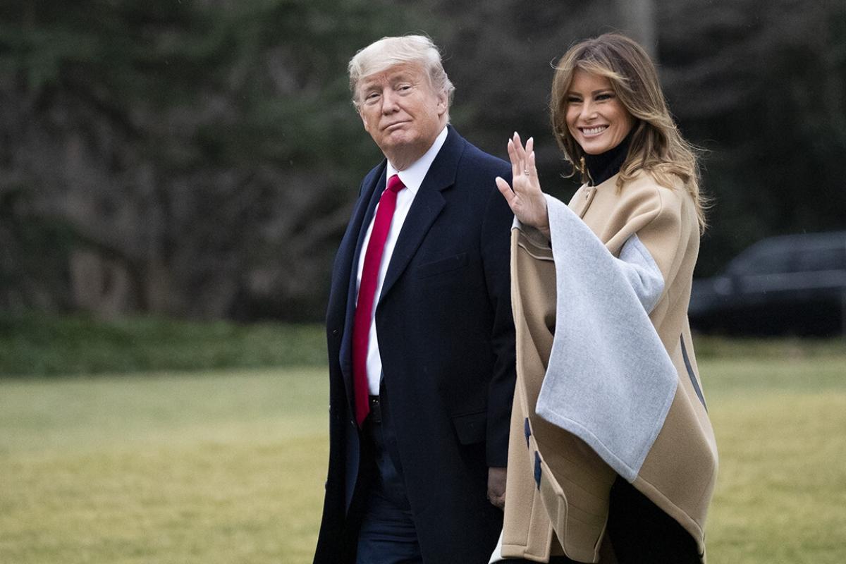 Ông Trump và bà Melania. Ảnh: AP