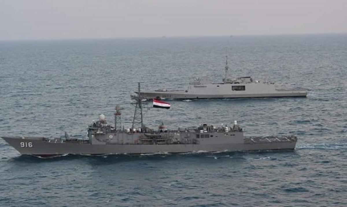 Ai Cập diễn tập quân sự cùng các nước ở biển Địa Trung Hải. Ảnh: Ahramonline