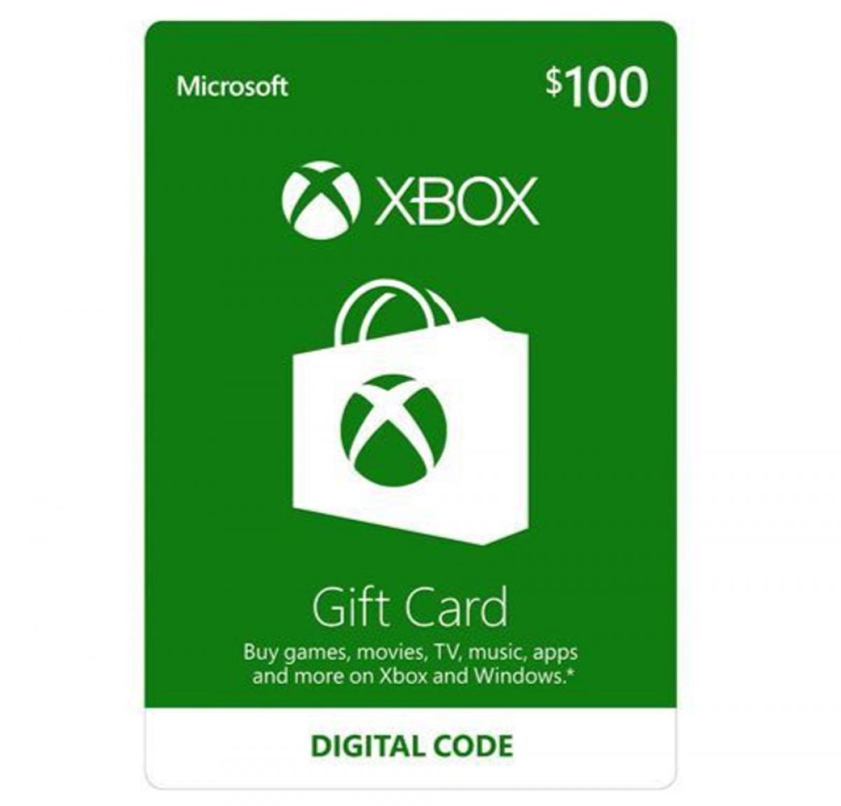 Thẻ Xbox gift card trị giá 100 USD đang được nhiều khách hàng ưa chuộng để làm quà tặng dịp GIáng Sinh. Thẻ có thể dùng để tải nhạc, xem video và chơi games...