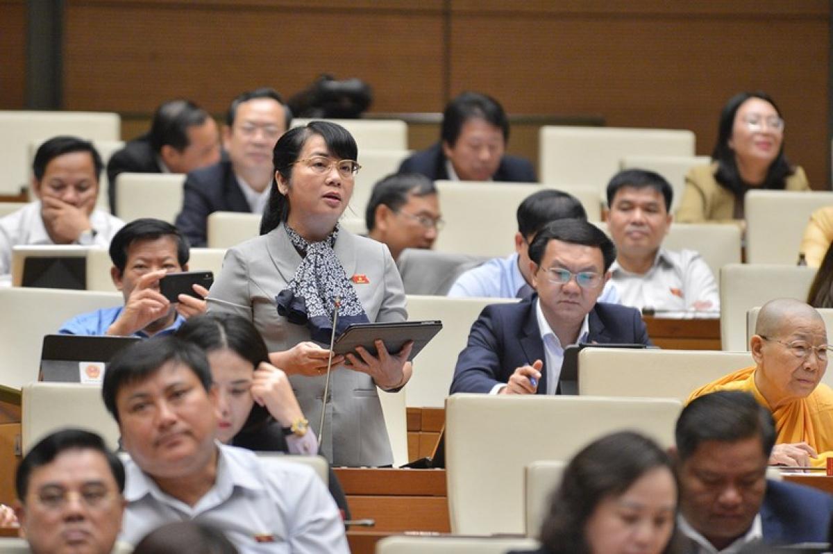 Đại biểu Trần Kim Yến (đoàn TPHCM). Ảnh: Quốc hội