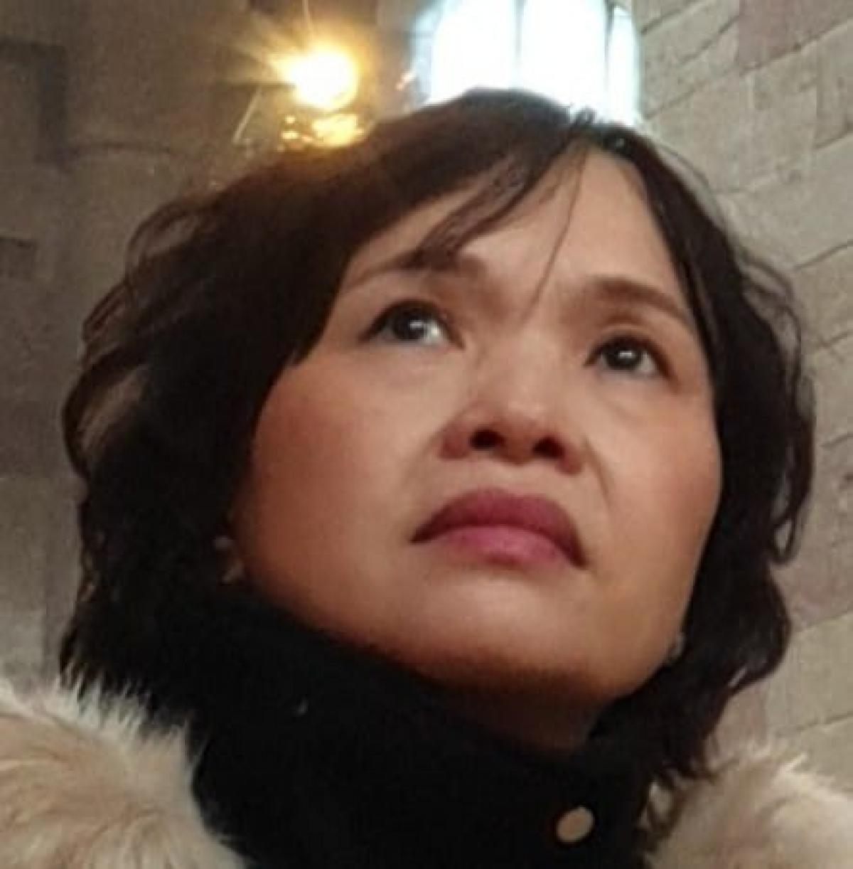 Nhà thơ Trần Kim Hoa - Ảnh: Báo Người lao động.