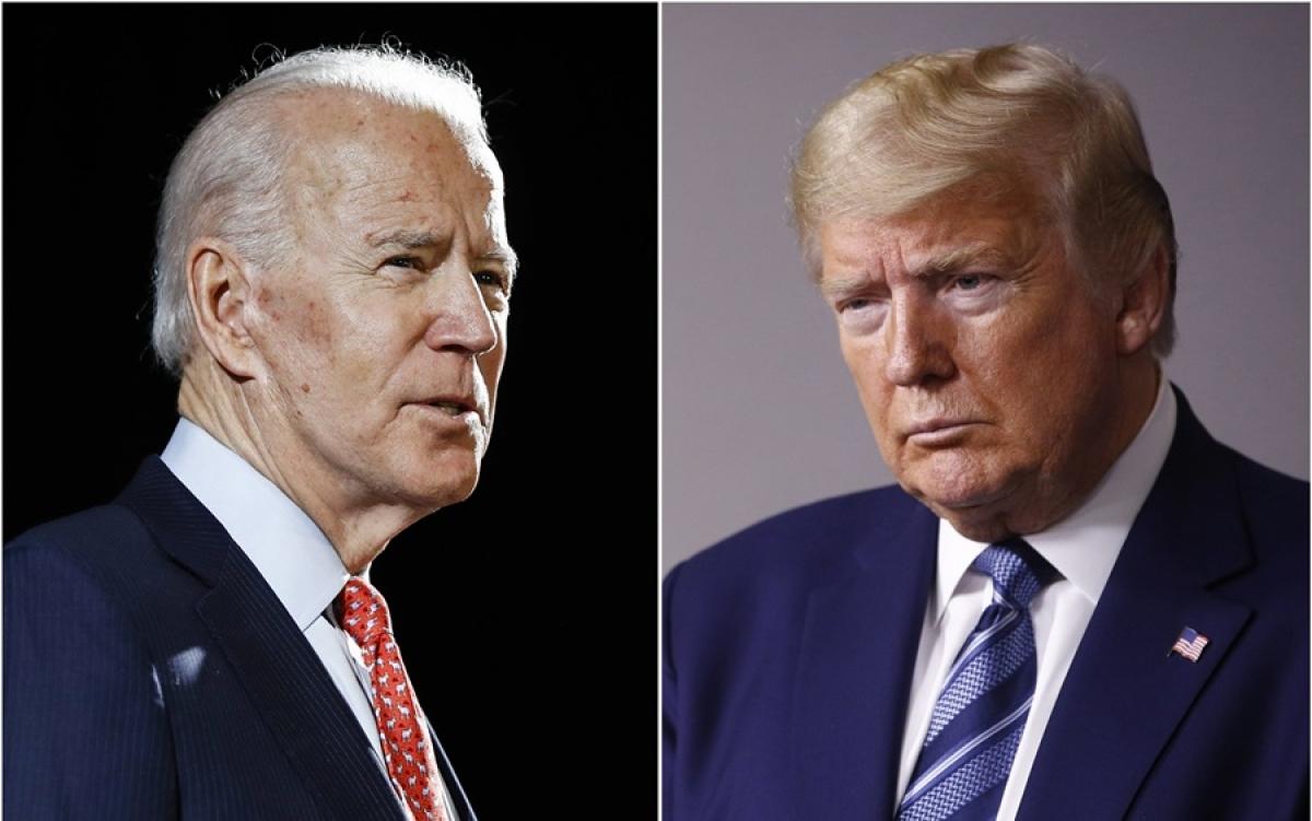 Úng viên Biden và Tổng thống Trump. Ảnh: AP.