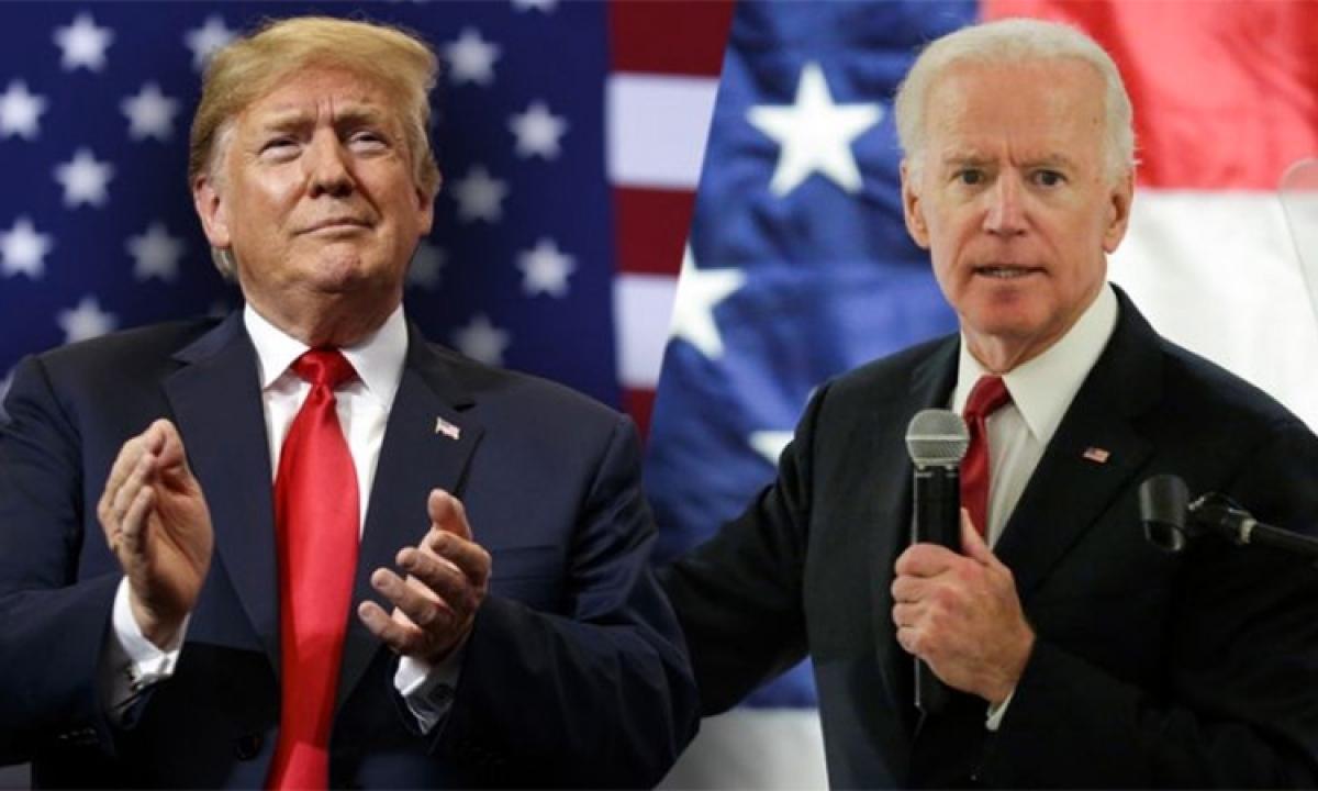 Tổng thống Trump và ông Biden. Ảnh:Gulf Today