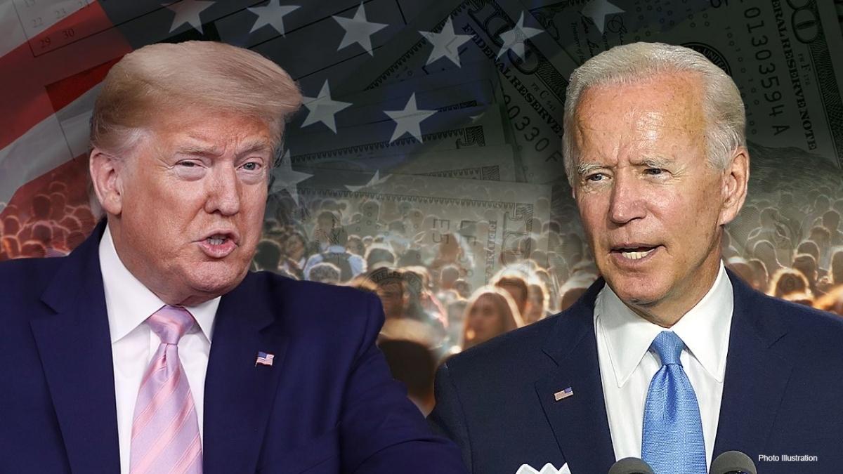 Tổng thống Trump và ông Biden. Ảnh: Fox News