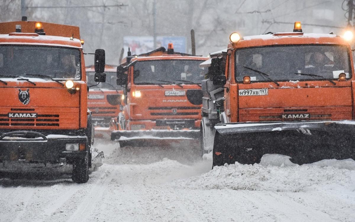 Đường phố Moscow (Nga) khi có tuyết rơi. Ảnh: Moskva Agency.