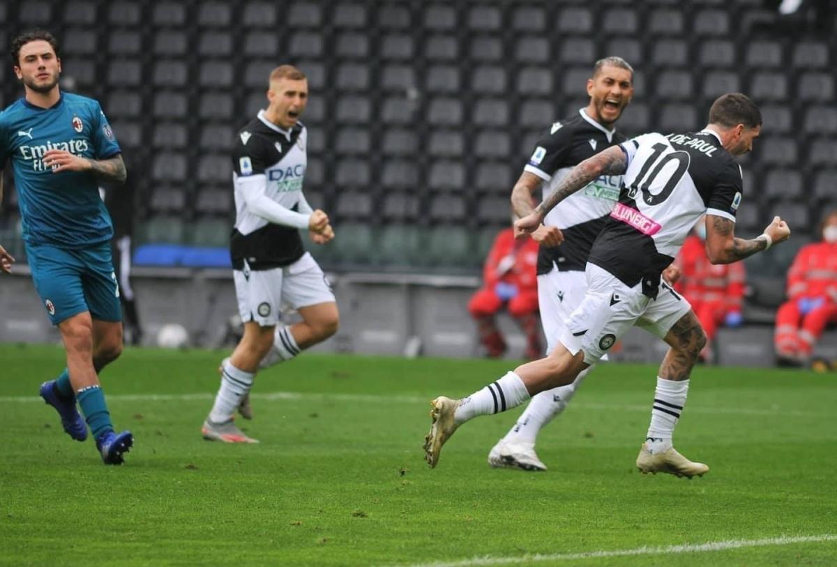 Udinese suýt nữa khiến AC Milan phải chia điểm. (Ảnh: Getty)