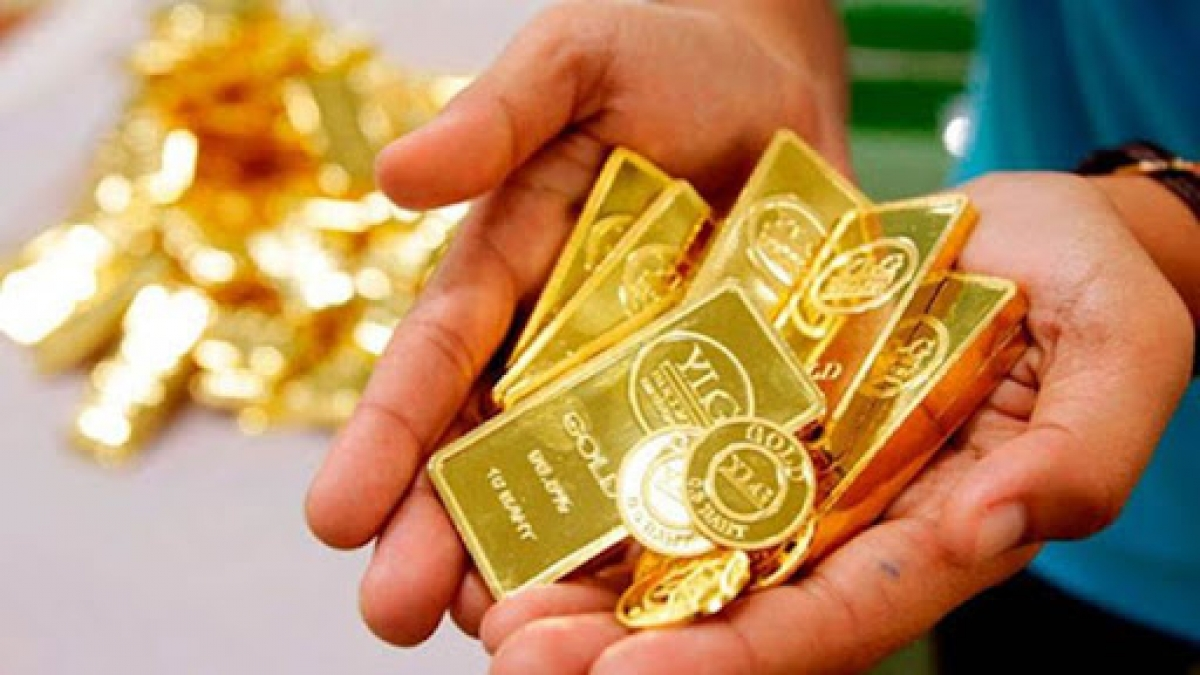 Giá vàng SJC giảm theo giá vàng thế giới. (Ảnh minh họa: KT)