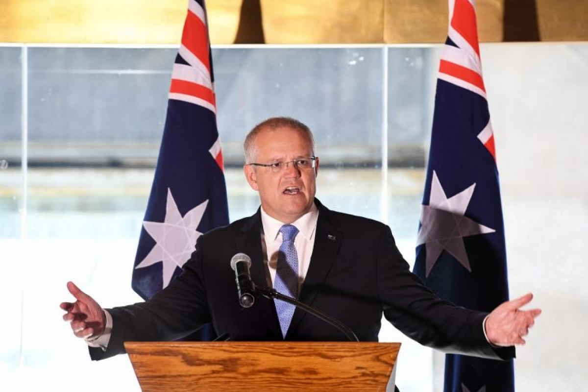 Thủ tướng Australia Scott Morrson. Ảnh: Strait Times.