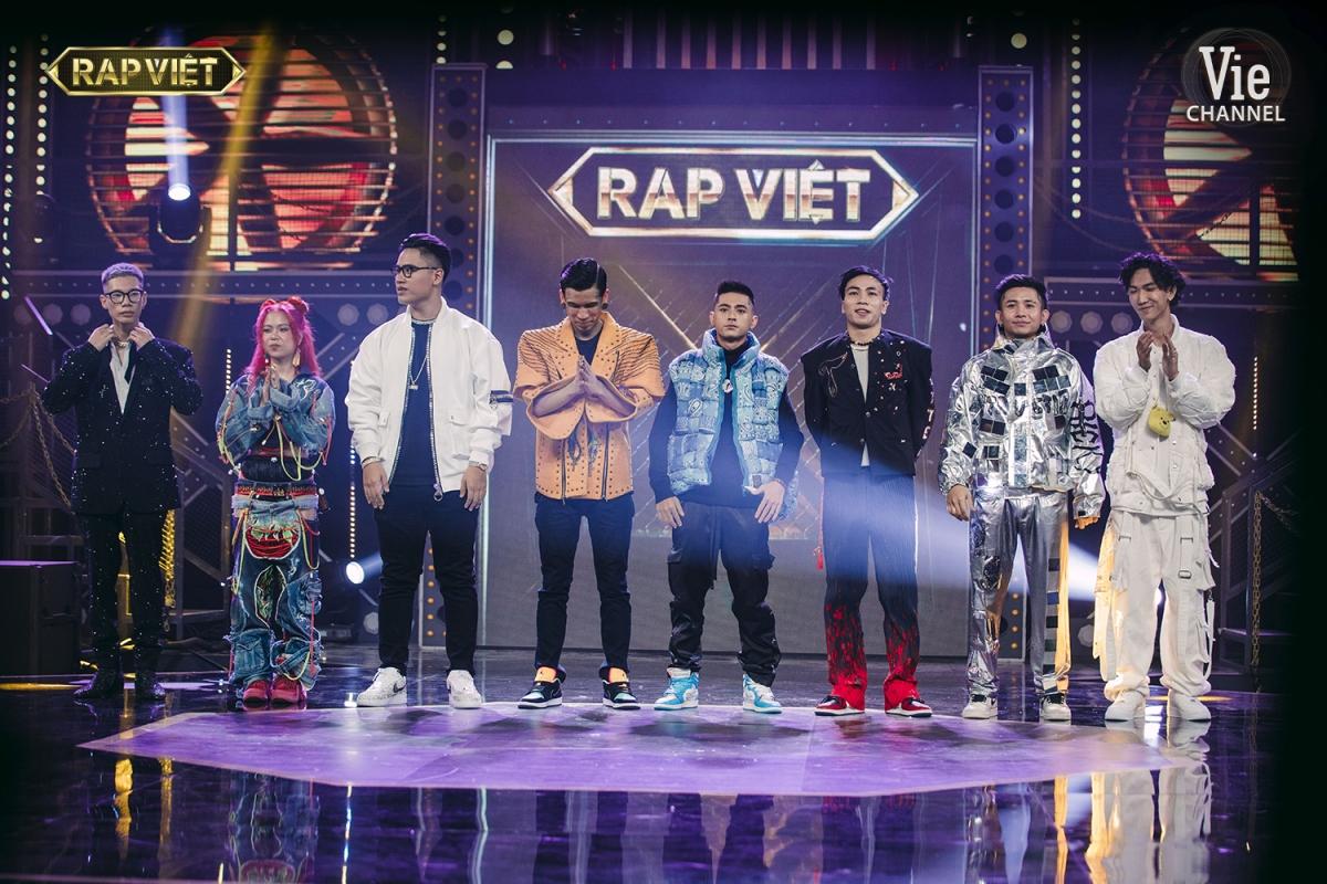 """8 thí sinh đại diện cho 4 team sẽ bước vào vòng Chung kết """"Rap Việt""""."""