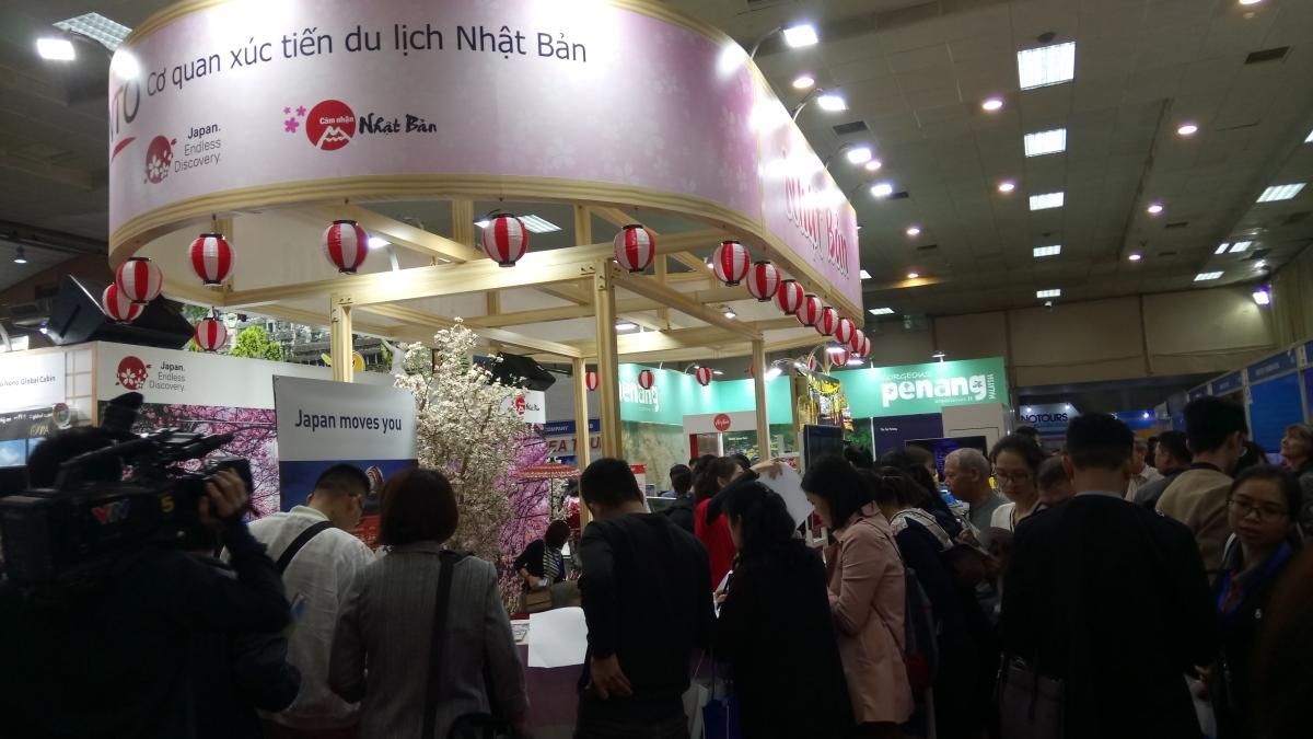 Gian hàng du lịch Nhật Bản luôn là điểm nhấn tại mỗi kỳ hội chợ VITM.Nguồn: JNTO