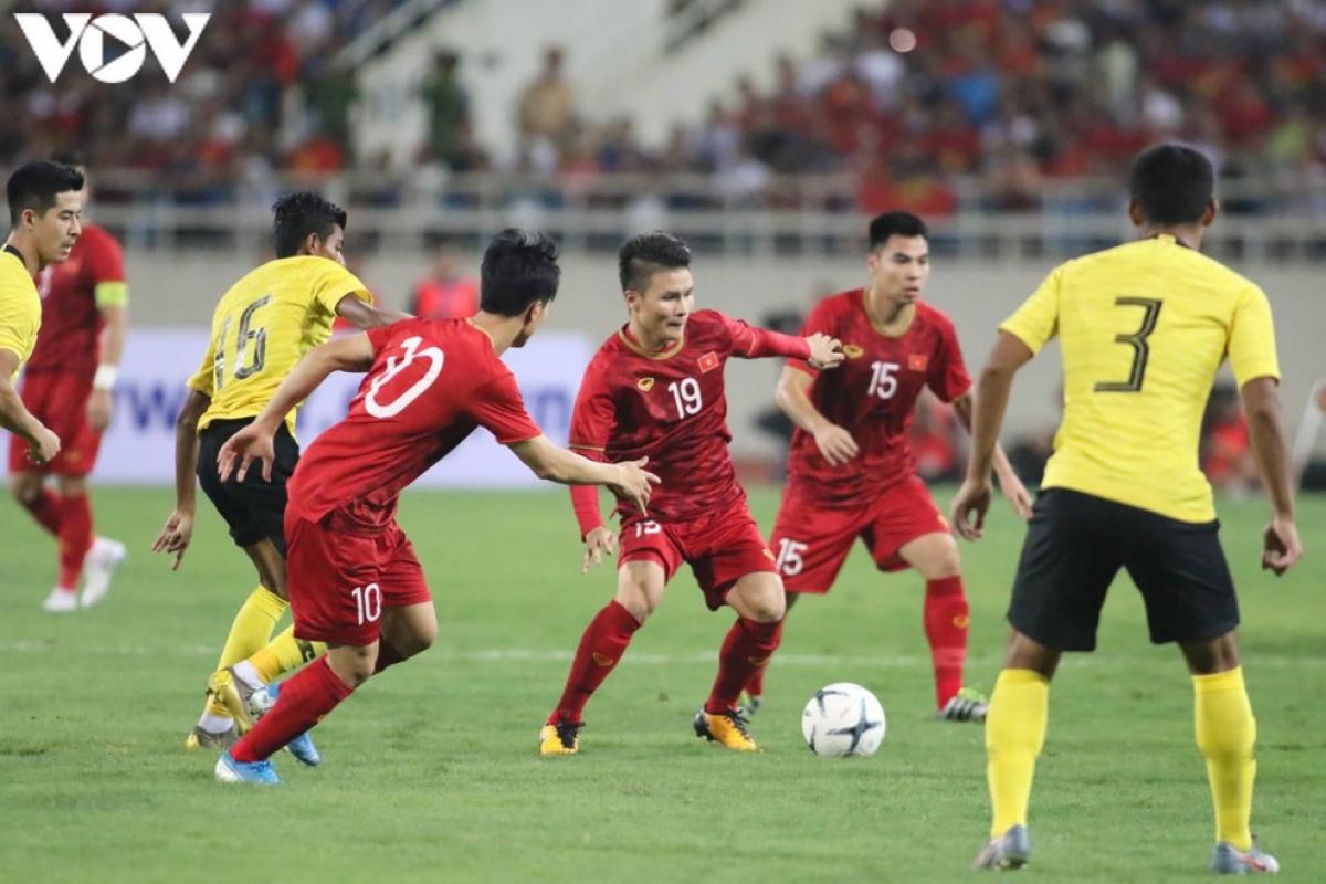 Thứ hạng của ĐT Việt Nam ở vòng loại World Cup 2022 chưa có thay đổi khi Malaysia không rút lui. (Ảnh: Trần Tiến)