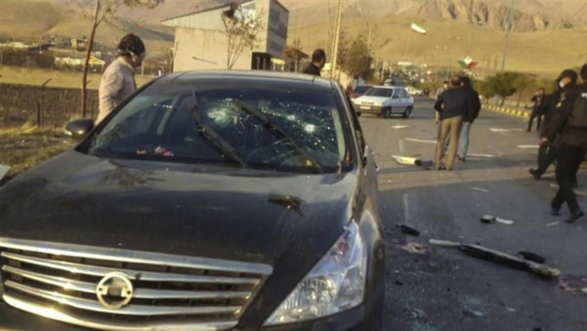Hiện trường vụ ám sát nhà khoa học hạt nhân Iran. Ảnh: NBC News