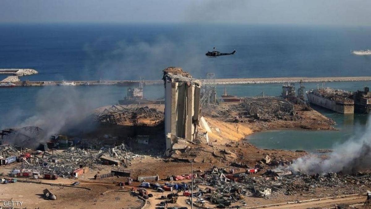 Toàn cảnh vụ nổ ở cảng Beirut ngày 4/8/2020. Ảnh: Getty