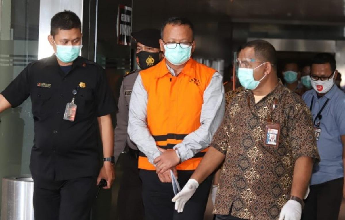 Bộ trưởng Biển và Nghề cá Indonesia Edhy Prabowo bị bắt do nghi án tham nhũng. (Ảnh: Jawapos)